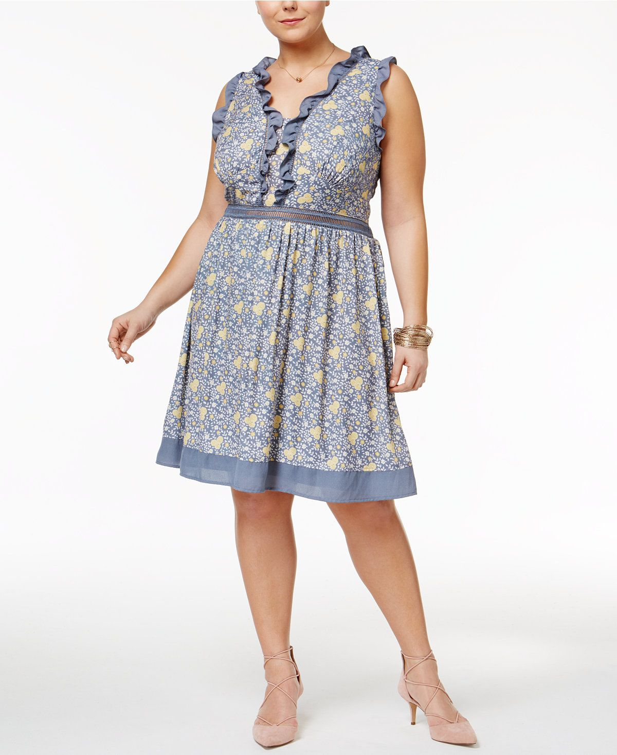 disney beauty and the beast trendy plus size printed fit & flare