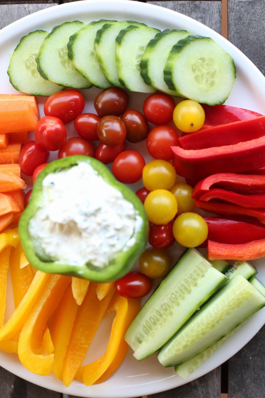 Photo of Gemüse Snack mit Dip