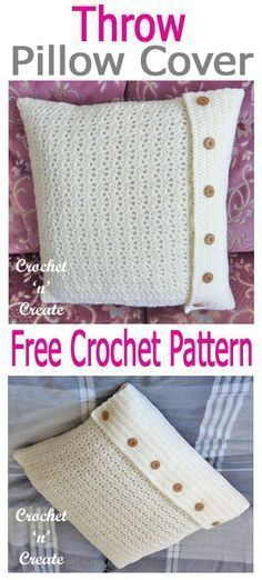Beautify your living area with this decorative pillow case. Free crochet pattern . Beautify your