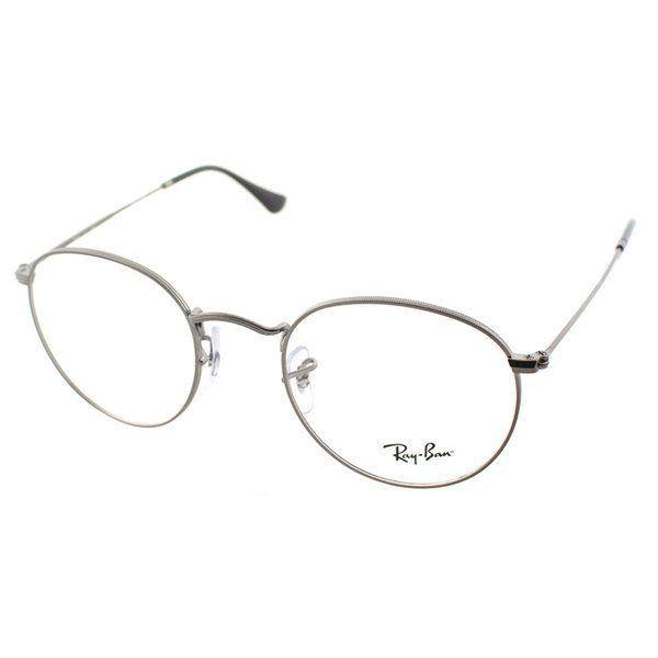 8b402c5f1b9408 Ray-Ban RX 3447V 2620 Round Matte Gunmetal Metal Eyeglasses 47mm ...