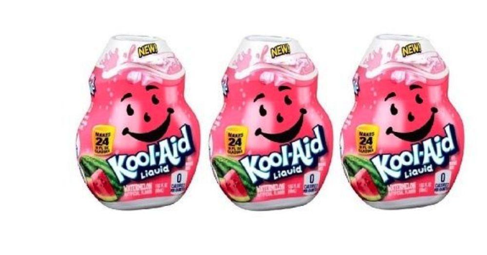 3x Sugar Free Kool Aid Watermelon Flavor Enhancer Liquid Drink Mix 3 Bottles Koolaid Flavor Enhancers Kool Aid Mixed Drinks