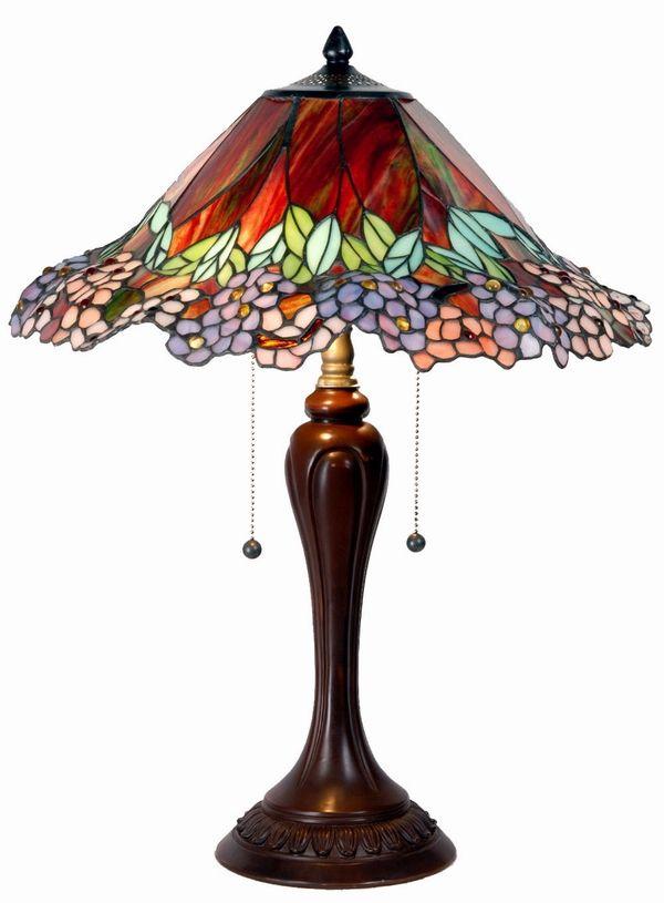 Tiffany Table Lamp Love The Colors Vitraze Osvetleni Lampa
