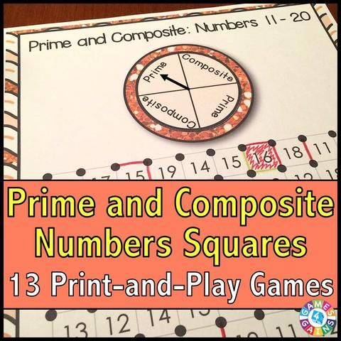 Prime and Composite Numbers u0027Squaresu0027 Game Number, Math and - prime number chart