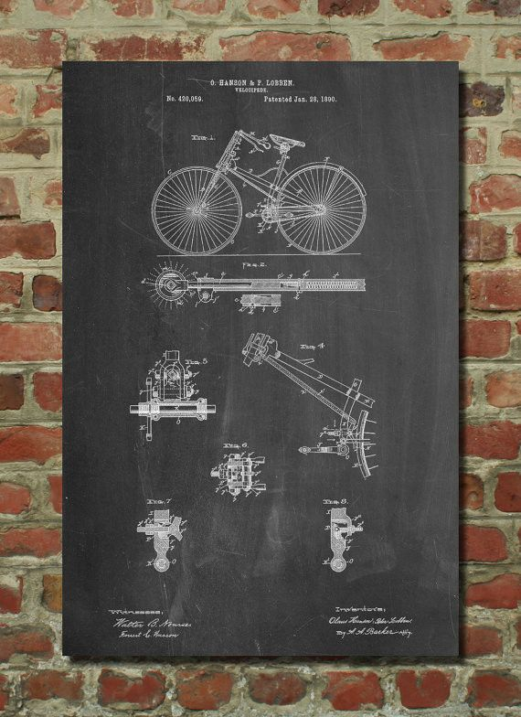 Bicycle Poster, Bicycle Patent, Bicycle Print, Bicycle Art, Bicycle - best of golf blueprint art