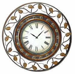 """Almost 38"""" in diameter wall clock.  Great for a kitchen with tall and arced ceilings."""