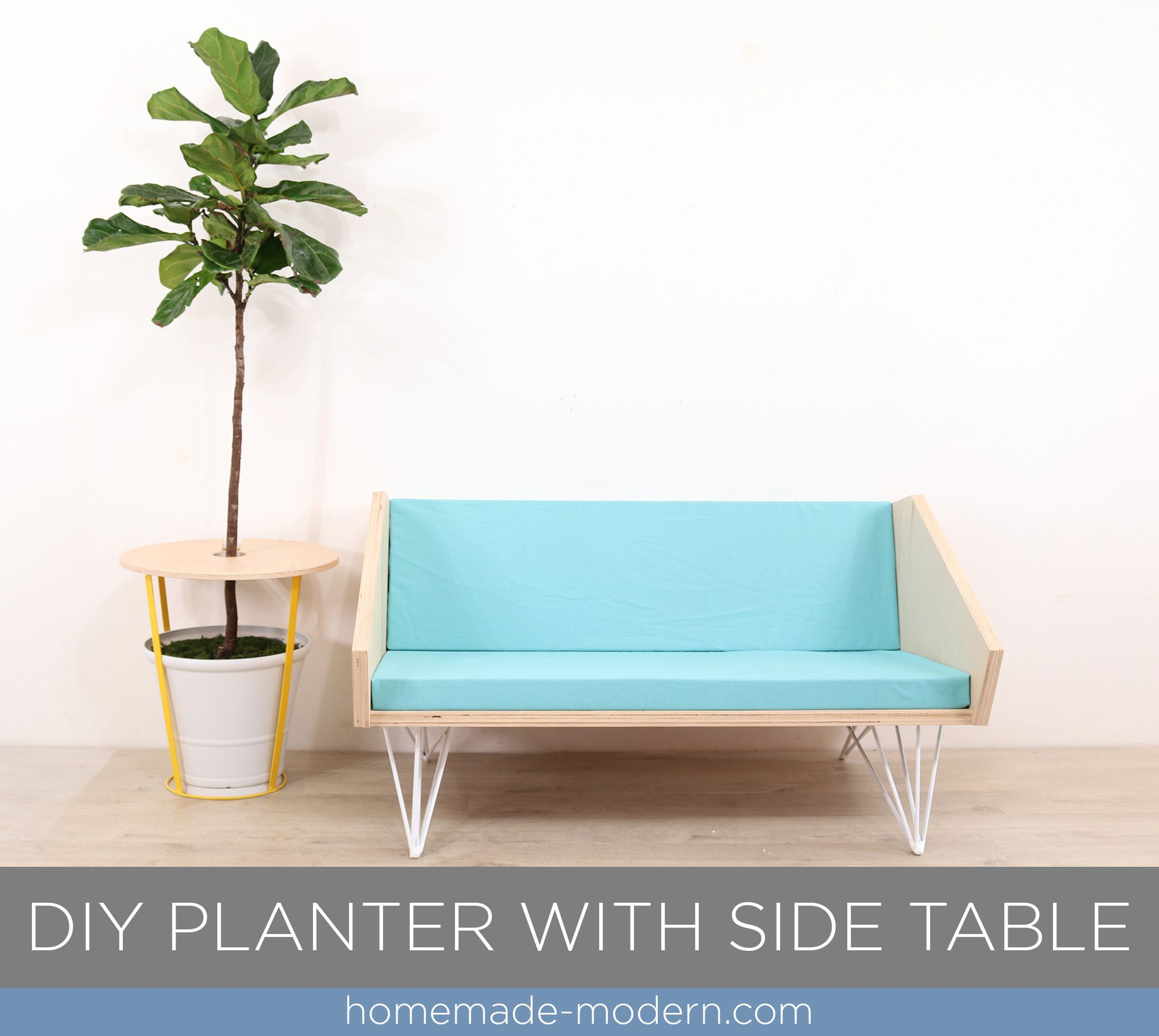 This Diy Planter And Side Table Was Designed By Ben Uyeda And Can Be Made Using Jus A Few Basic Power To Diy Planters Homemade Modern Diy Projects Coffee Table [ 1788 x 2000 Pixel ]