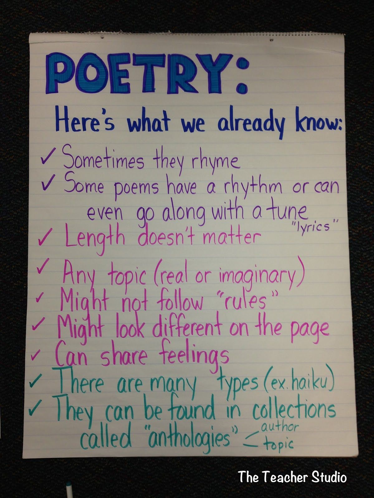 anchor charts form vs function 4th grade teaching poetry poetry anchor chart. Black Bedroom Furniture Sets. Home Design Ideas