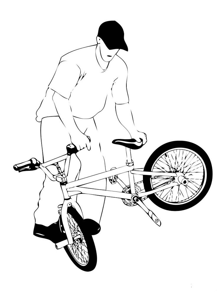 Street Bmx Bike Coloring Pages Coloring Pages For Kids Bmx