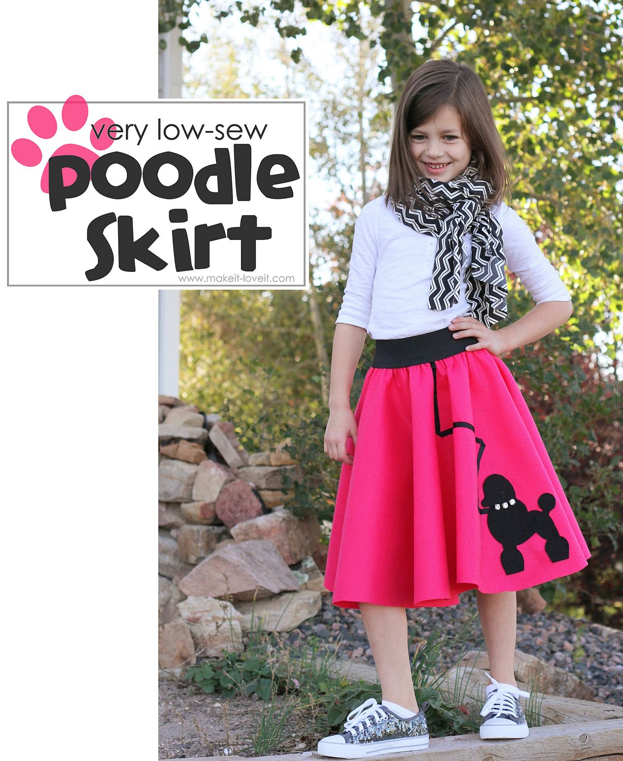 DIY Halloween Costume Ideas: a very Low-Sew POODLE SKIRT! www.makeit ...