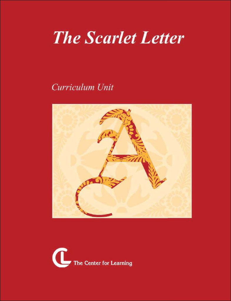 The Scarlet Letter Curriculum Unit | The scarlet letter ...