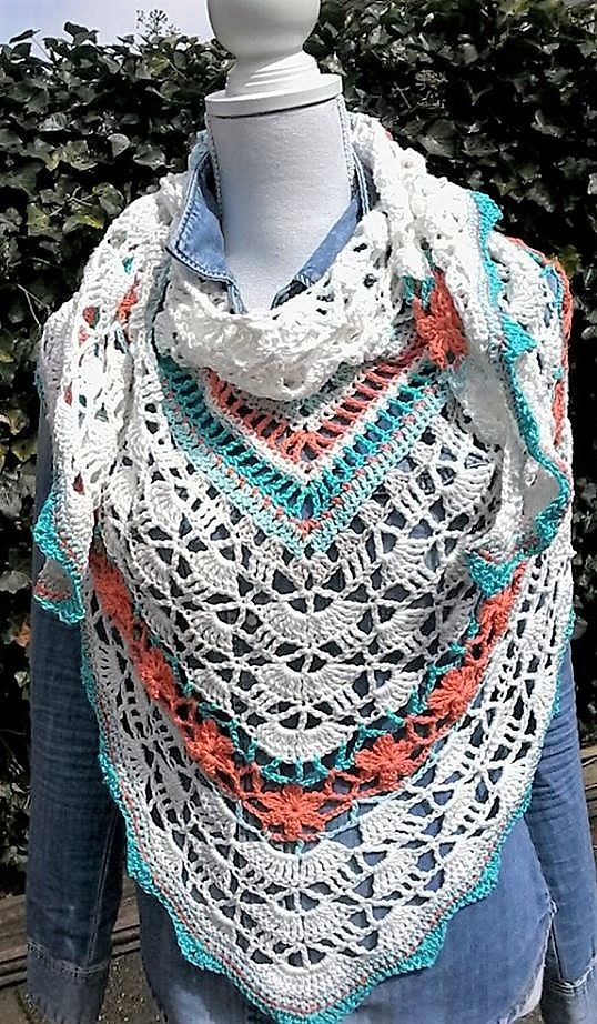 Crochet Classy Coral Rose - Tante Roos | accessories | Pinterest ...
