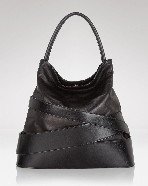 Z Spoke Zack Posen Veronica Banded leather in black  5bc6fa5a16be9