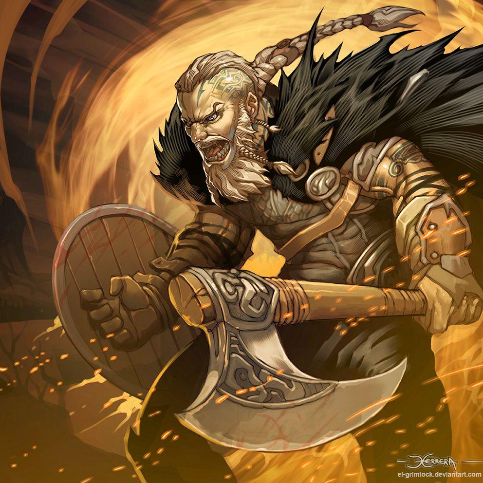 Ragnar Lothbrok By El-grimlock Vikings Barbarian Berserker
