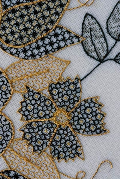 Basket Of Gold The Embroiderers Guild Of America Embroidery