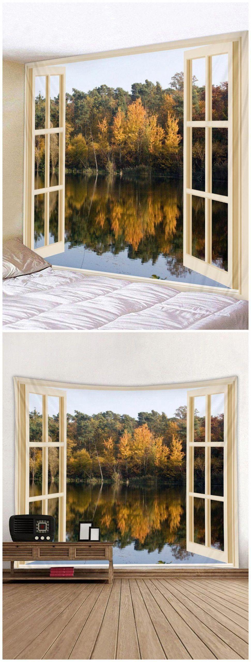 $15.95 Forest Tree Print Tapestry Art Decoration living room ideas, bedroom ide   wall decor bedroom master window treatments #art #bedroom #decoration #forest #ide #ideas #living #print #room #tapestry #tree