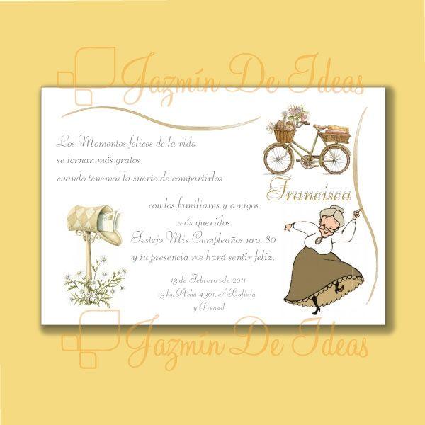 Tarjeta De 80 Años Cumpleaños De 80 Cumpleaños Abuela Y