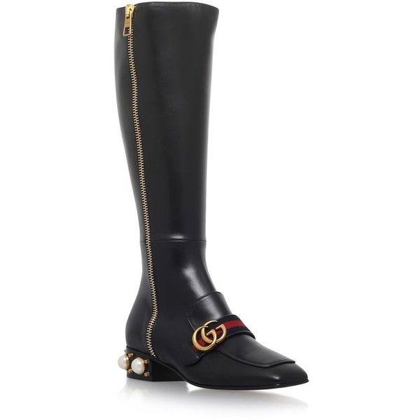 Gucci Women Boots Black Grey Mud