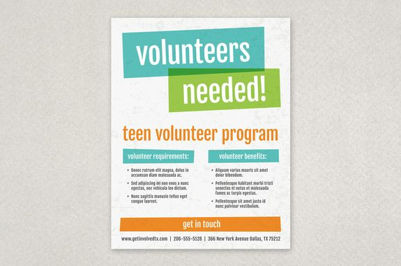 volunteer brochure template - with its vibrant colors and asymmetrical shapes this
