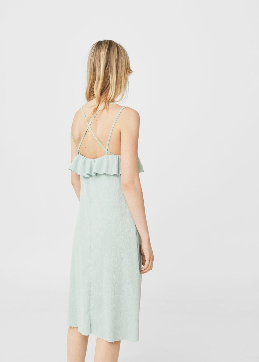 Strukturiertes kleid, volantsaum - Damen | strukturiertes Kleid ...