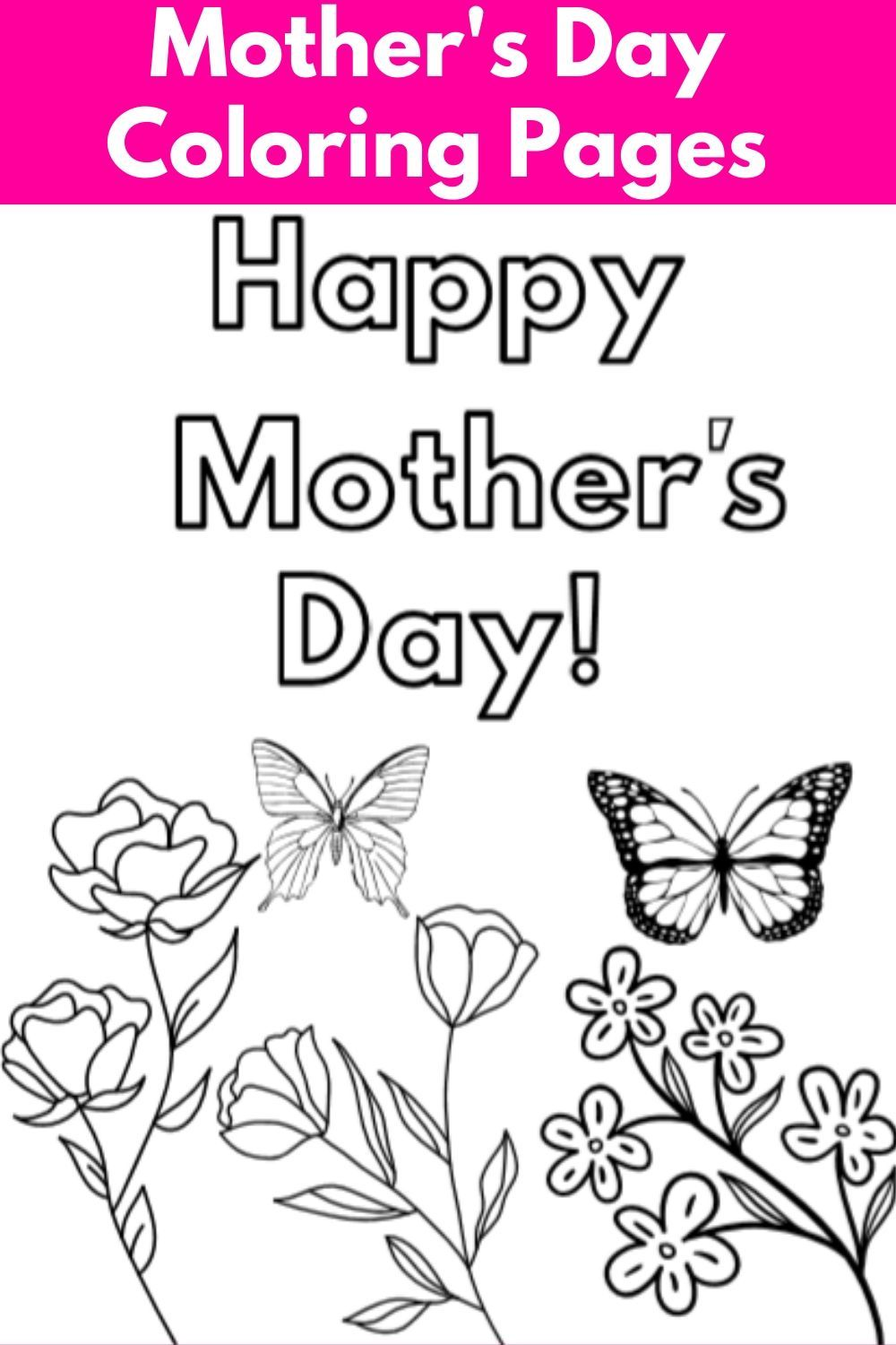 Beautiful Mother's Day Coloring Pages Free   Craft Corner ...