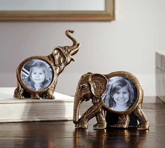 Elephant Figural Frames, Set of 2 | Pottery Barn