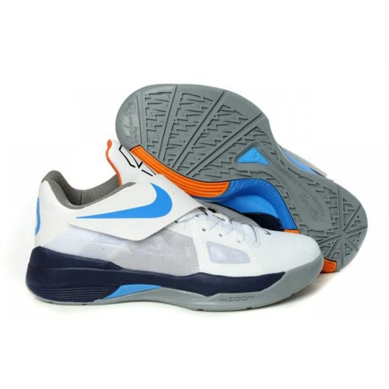 new concept 3d4c5 7148c Nike Kevin Durant 4 White Midnight Navy Cool Grey Photo Blue , Price   75.55