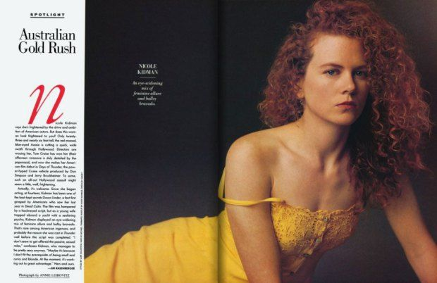 Young, fresh, and drowning in what would become her famous red curls, Aussie actress Nicole Kidman is a vision in a summery yellow dress in ...
