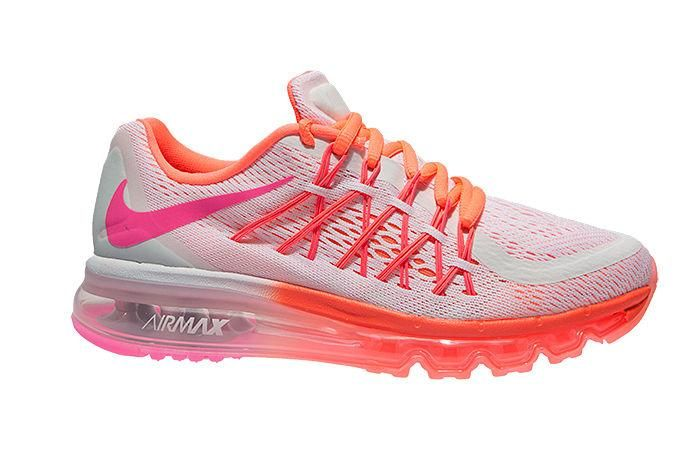 low cost 27412 0dc80 Popular Nike Air Max 2015 Online Pink Orange White Running Shoes for Women  £78.72