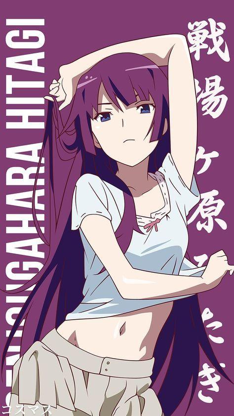 Hot Senjougahara Hitagi Anime Desenho Feminino E Mangas