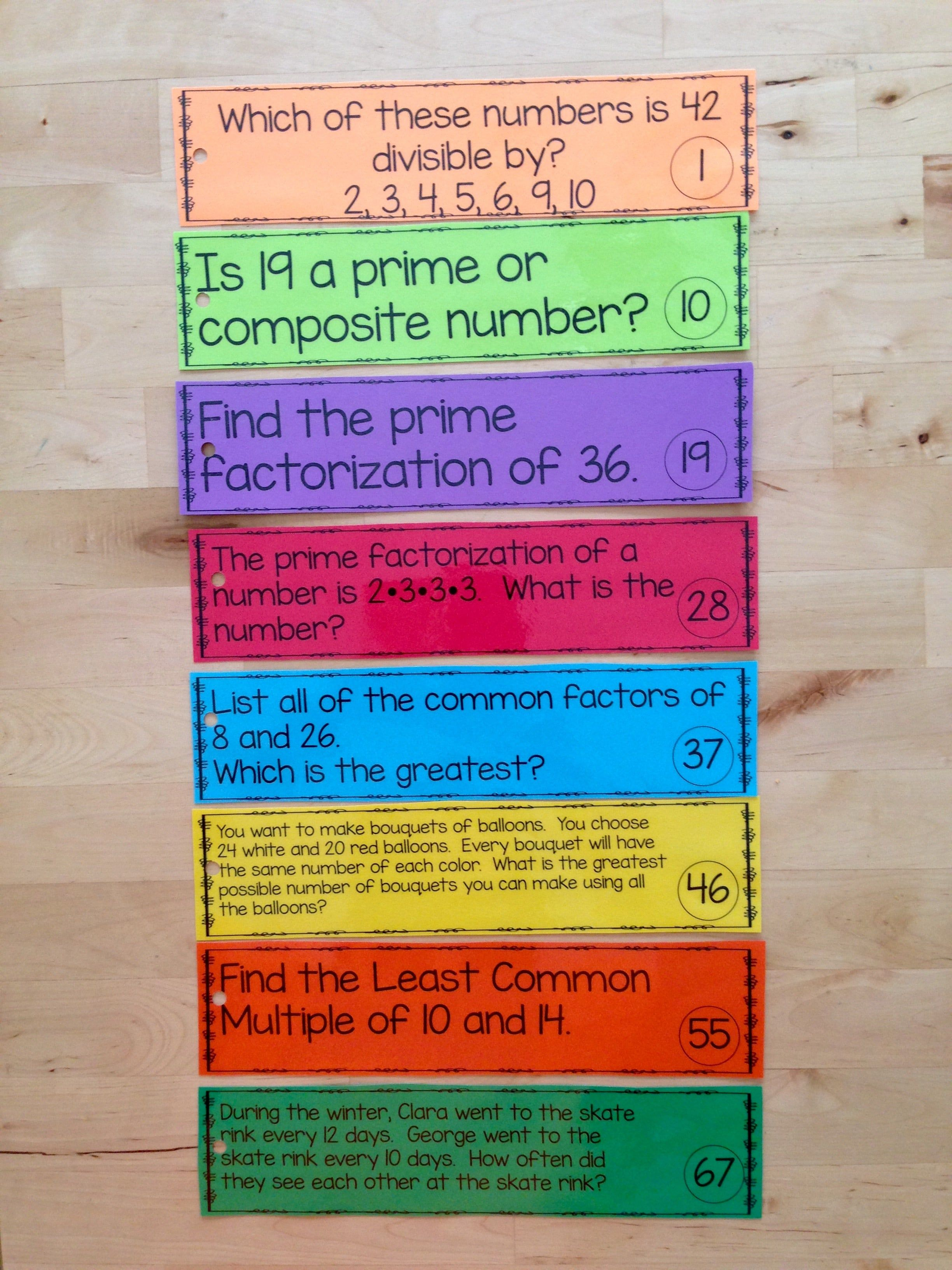 Prime Numbers Divisibility Lcm Gcf Scoot And Compute