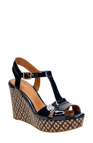 Clarks sandals navy! | Leather sandals