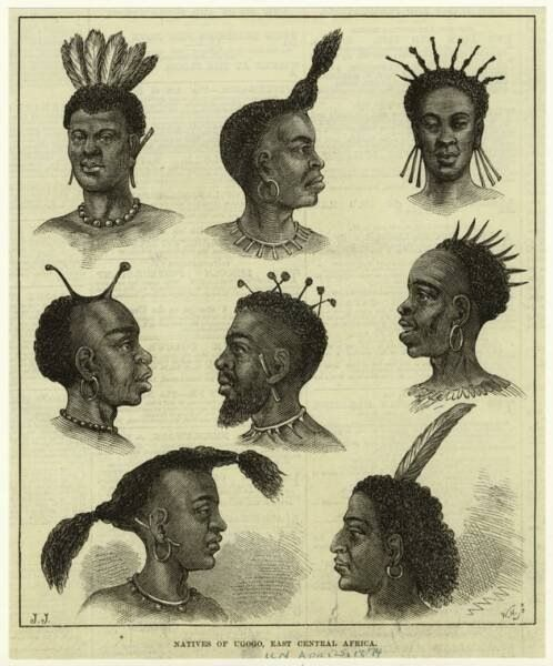 Old Time African Hair African Hairstyles African African Culture