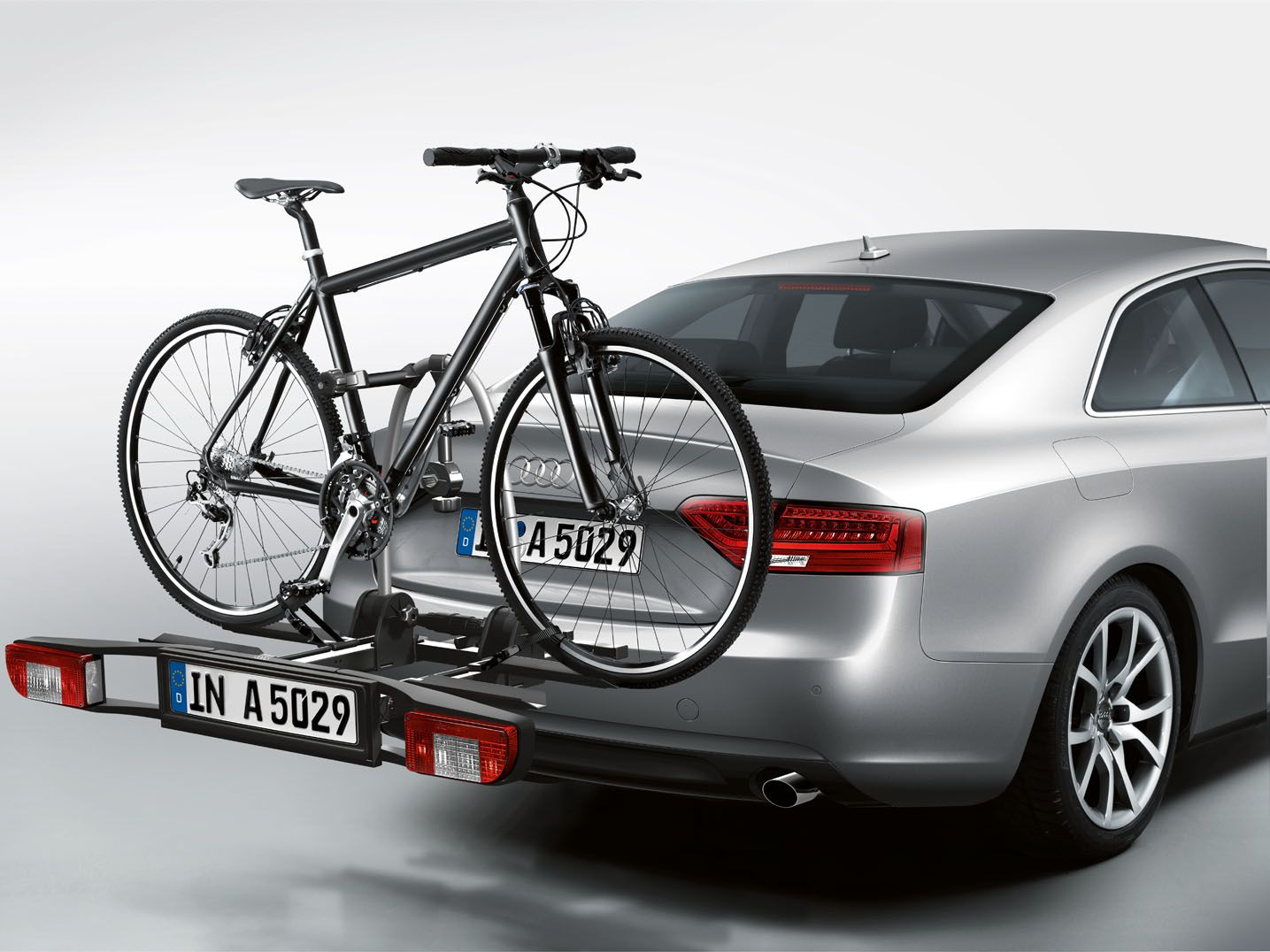 Audi rear bike rack which is easy to load and unload available here http