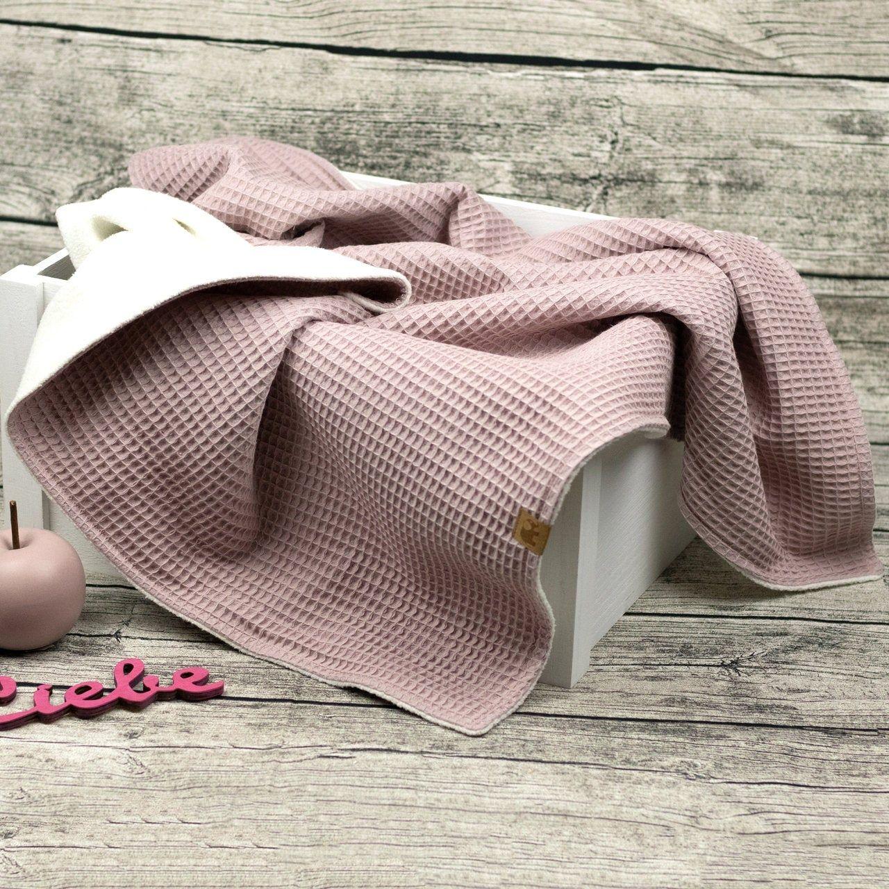 Soft Baby Blanket Cuddly Blanket Teddy Wafflelpique Cotton Fleece Crawlblanket Pram Blanket Blanket Baby Child Old Pink Pink In 2020 Soft Baby Blankets Cuddly Blanket Pram Blanket
