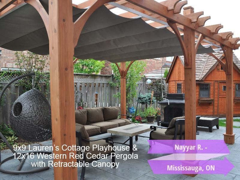 12x16 Breeze Pergola With Retractable Canopy