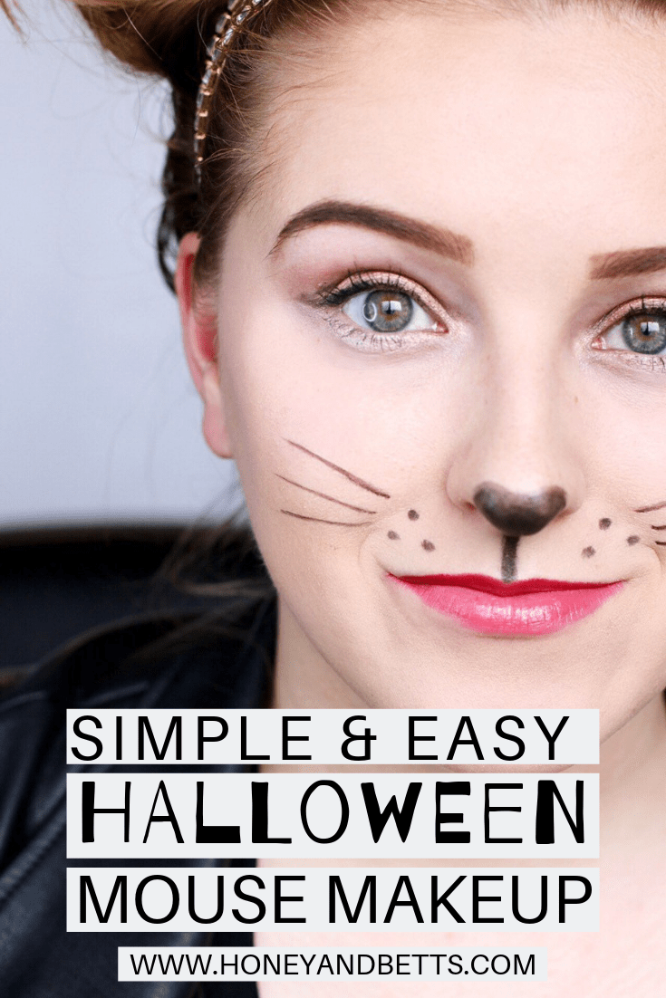 Simple Easy Mouse Halloween Costume And Makeup Mom Halloween Makeup Eye Makeup Makeup For Moms