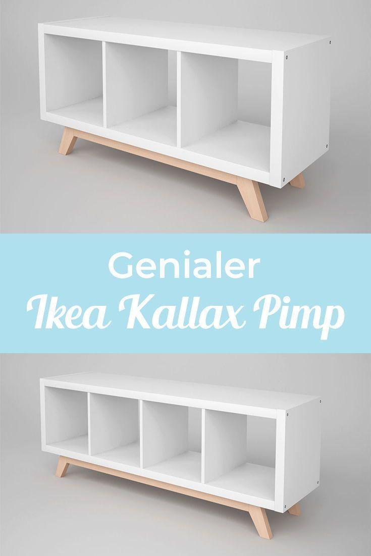 Photo of Kallax shelf base in wood / oblique feet