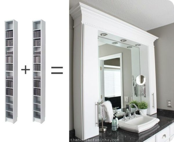 CD Cabinets Turned Bathroom Countertop Storage. I love the look of ...