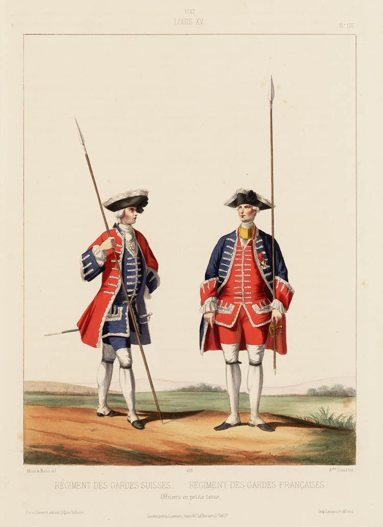 1757 louis xv r giment des gardes suisses r giment des for Ancienne maison des gardes lourmarin france
