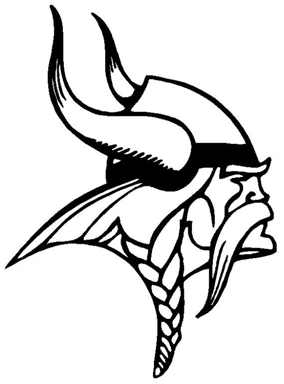 6 Inch Minnesota Vikings Football logo decal sticker by Cafedecals ...