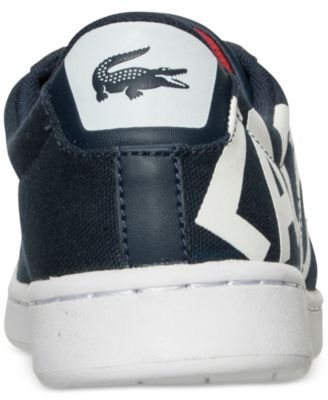 Lacoste Little Boys' Carnaby Evo Logo Casual Sneakers from Finish Line - Blue 1.5