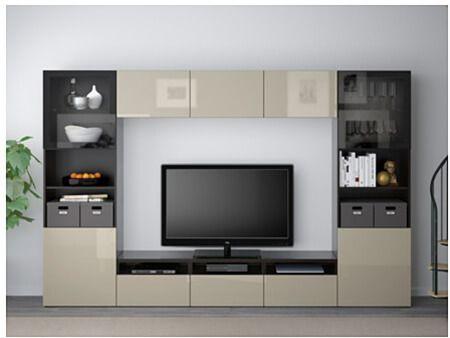 mueble BESTÅ de IKEA en negro y beige. | Salones | Pinterest | Ikea ...