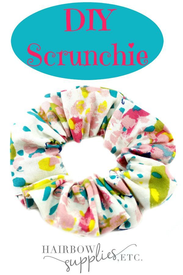 DIY Scrunchie Tutorial #hairscrunchie