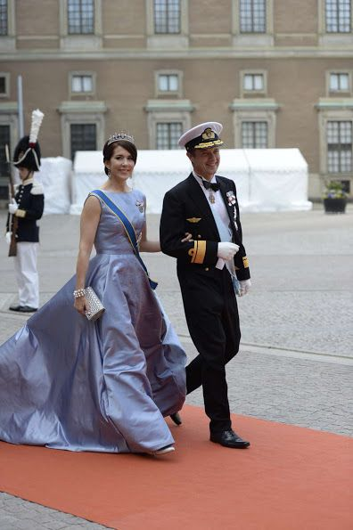 Wedding of Prince Carl Philip and Sofia Hellqvist at Royal Chapel: Crown Prince Frederik and Crown Princess Mary of Denmark