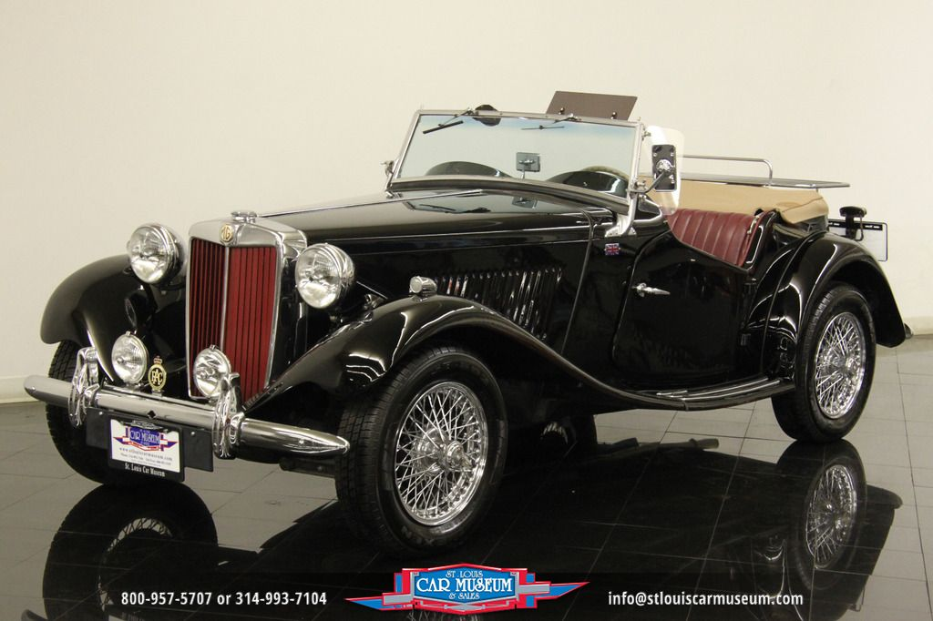 MG : T-Series Roadster 1953 MG TD Roadster Restored Chrome Wire ...