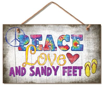PEACE, love and sandy feet - I have to say I love summer, no socks or shoe days, on the beach - the best feeling :)