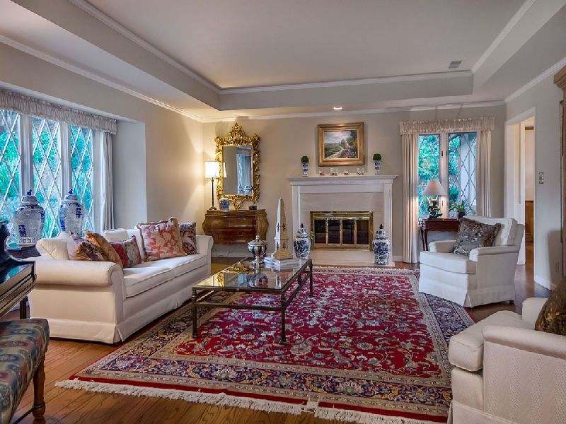 appealing living room persian carpet | Living Room - Formal Living Room - Oriental Rug - Leaded ...