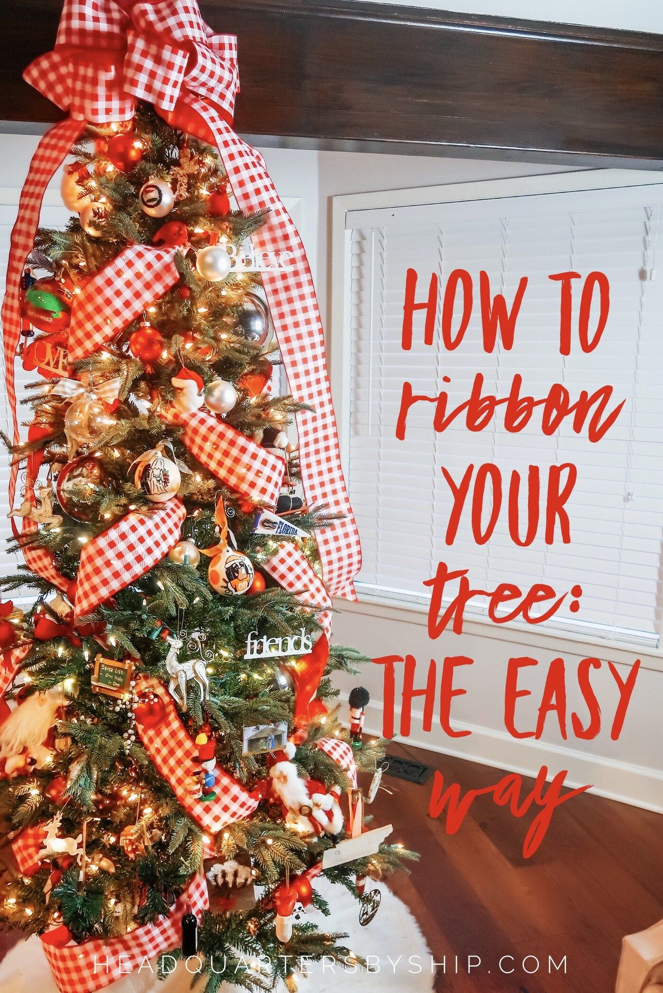How to Put Ribbon on a Christmas Tree | The Easy W