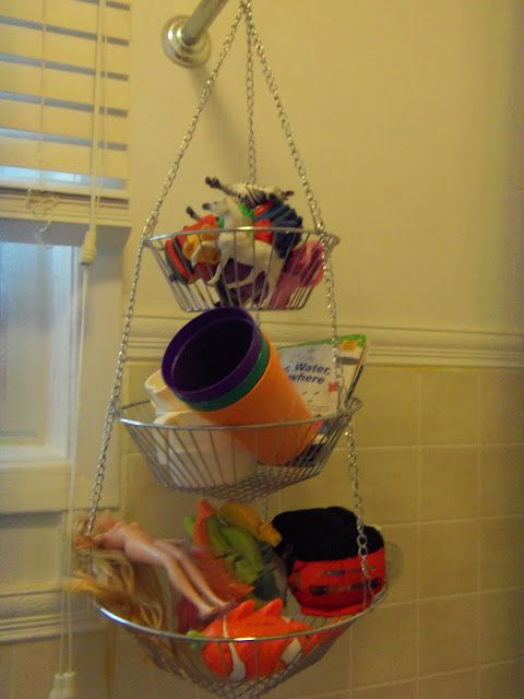 Hanging basket toy storage   Bathroom   Pinterest   Toy storage ...