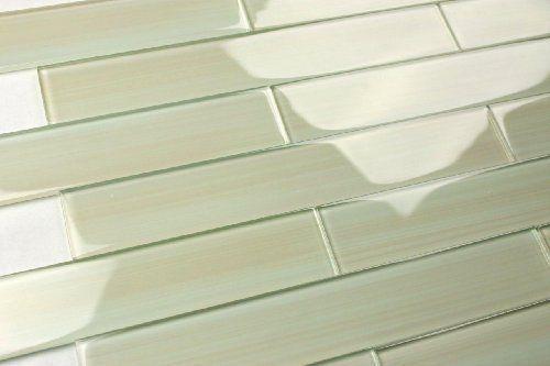 Wisp 2x12 Glass Subway Tile for Kitchen Backsplash or Bathroom from ...